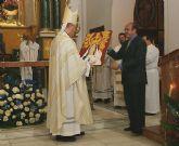 El Obispo de la Diócesis de Cartagena preside la Misa Solemne en honor a la Patrona de Puerto Lumbreras, la Virgen del Rosario
