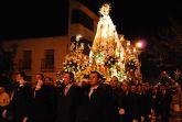 La imagen de Nuestra Señora del Rosario procesion� por las calles de la localidad