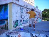 El Graff Obssesion borra las huellas de los que no respetaron los espacios habilitados por el Festival de graffiti