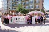 Puerto Lumbreras ha acogido una concentración y una marcha popular con motivo del Día Internacional del Cáncer de Mama