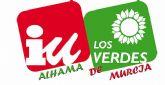 Posicionamiento de IU + Los Verdes sobre asuntos tratados en el Pleno Extraordinario del pasado 13 de octubre