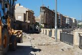 El paseo de la Avenida Rambla de la Santa comienza a transformar su imagen a raíz de las obras de remodelación que se están ejecutando