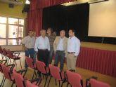 Gómez visita el estado de las obras del nuevo salón multiosos del Centro Cultural de Churra