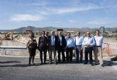 El Alcalde y el presidente de la CHS visitan las obras de acondicionamiento de la Rambla del Murciano en Puerto Lumbreras