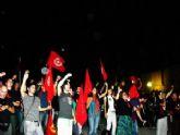 Miembros de la Juventud Comunista de Totana (JCT) acudieron a la V Fiesta del PCRM 'Revolución contra la crisis'
