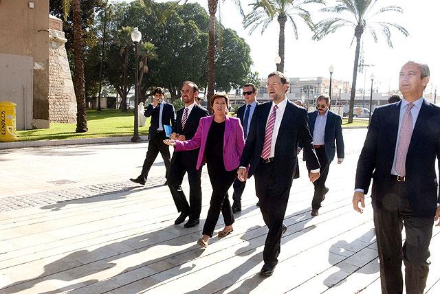 Rajoy impresionado con la magnitud del proyecto de Repsol en Escombreras - 3, Foto 3