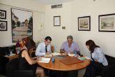Firma del convenio entre El Ayuntamiento de Torre-Pacheco y AFAMMER