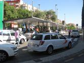 La parada de taxis de la estación de El Carmen está completamente remodelada