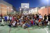 Los brasileños del CB Murcia pasan la tarde con la cantera del AD Infante
