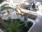Construcción de la segunda isla para contenedores subterráneos en la plaza de España