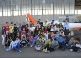 Cerca de 200 escolares de Puerto Lumbreras visitaron la Academia General del Aire de San Javier
