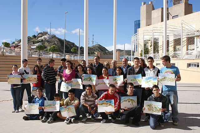 Puerto Lumbreras clausura la iniciativa educativa 'Un día con el pintor Pedro Cano' - 1, Foto 1