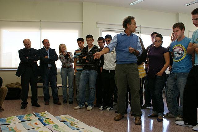 Puerto Lumbreras clausura la iniciativa educativa 'Un día con el pintor Pedro Cano' - 2, Foto 2