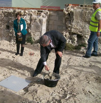 Inicio de las obras de La Soledad con la colocación de la 1ª piedra - 4, Foto 4