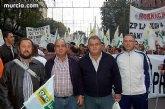 Más de doscientos vecinos de Totana participaron el sábado en la manifestación de Madrid convocada por los sindicatos agrarios