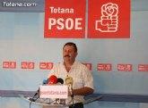 Los socilistas aseguran que 'Valcárcel, huyendo de Andreo, se olvida de Totana'