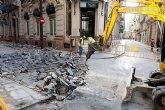 Cortada al tráfico la calle Jara por las obras de la peatonalización