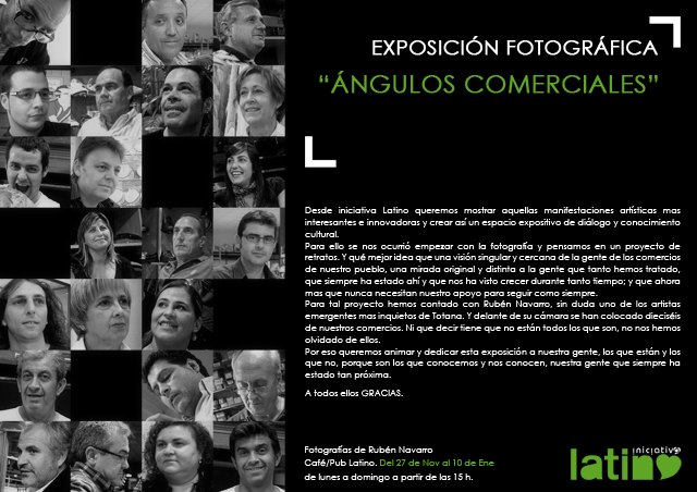 "Today, Friday November 27 inaugurated the photographic exhibition ""commercial angle"""