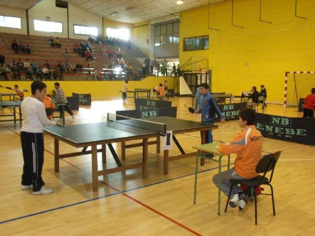 Un total de 90 escolares participan en el Torneo Escolar de Tenis de Mesa, Foto 1
