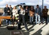 El alcalde de Puerto Lumbreras y la consejera de Presidencia colocan la primera piedra del nuevo Centro de Atención Policial