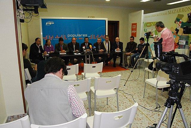 Los alcaldes y portavoces del PP del Guadalent�n a�nan sus fuerzas, Foto 4