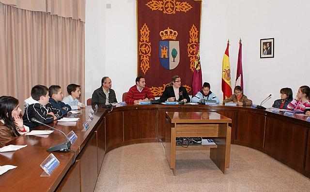 El Ayuntamiento de Puerto Lumbreras acoge los Plenos Infantiles en los que han participado los cuatro centros educativos - 1, Foto 1