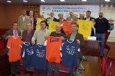 Bustamante, Valverde, Kiko, Líria y Almagro, en el partido contra el cáncer de Las Torres de Cotillas