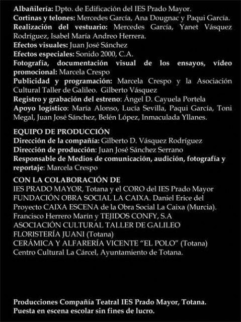 """La compañ�a de Teatro del IES Prado Mayor vuelve a escenificar Bodas de Sangre en el Teatro Sociocultural de """"La C�rcel"""", Foto 4"""
