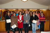 46 alumnos, de tres cursos que se han realizado en Alguazas, han recibido sus diplomas