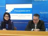 El presupuesto del Ayuntamiento para el 2010 será de 67.296.646 euros, desciende el 23'66% respecto a este año por la fuerte caída de los ingresos
