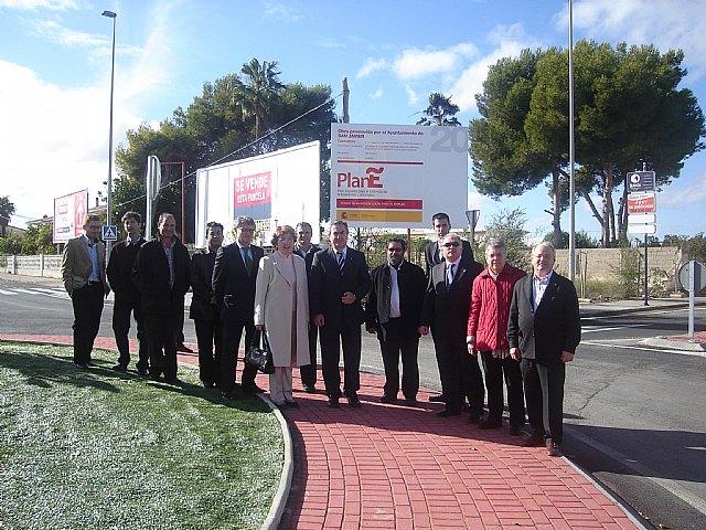 El delegado del Gobierno y la Alcaldesa inauguran cinco obras del Plan E en San Javier - 1, Foto 1
