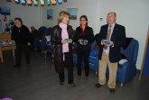 Esta mañana el alcalde visitaba a los mayores de los centros municipales para desearles unas felices fiestas