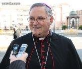 El obispo de la diócesis de Cartagena José Manuel Lorca Planes felicita la Navidad