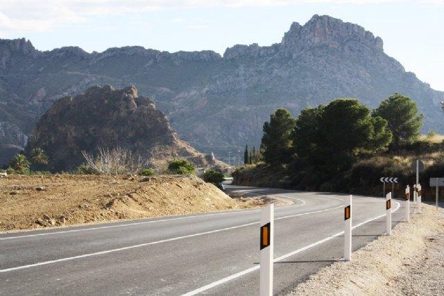 La Comunidad elimina un tramo de concentración de accidentes en el Valle de Ricote - 1, Foto 1