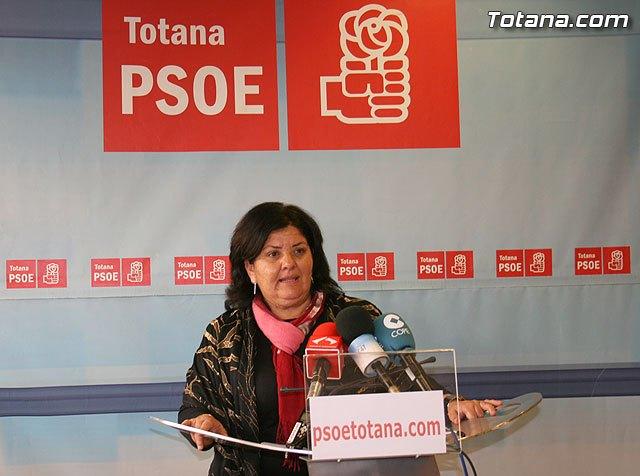 La concejal socialista Lola Cano ofreci� una rueda de prensa para hacer una valoraci�n del Pleno ordinario del mes de diciembre, Foto 1