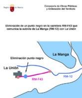 Obras Públicas elimina un punto negro en la carretera que comunica la autovía de La Manga con La Unión