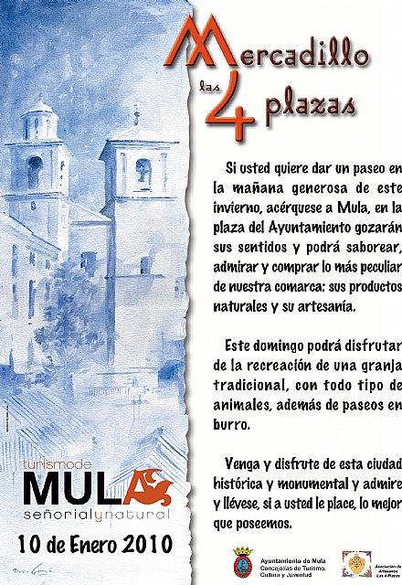 El Mercadillo Las 4 Plazas de Mula recrea este domino una granja tradicional - 1, Foto 1