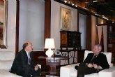 El presidente Valc�rcel recibe al alcalde de Alhama de Murcia, Juan Romero