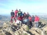 El Club Senderista de Totana realizó su primera salida del presente año ascendiendo hasta la cumbre de la Sierra de Callosa