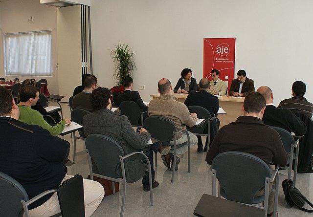 La Junta Directiva de AJE Guadalentín se reúne en Puerto Lumbreras - 1, Foto 1
