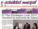 """""""E-actualidad municipal"""" nace como un nuevo concepto de información entre el ayuntamiento de Totana y el ciudadano"""