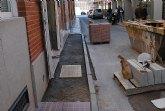 Comienza la ejecución de las obras de sustitución de las aceras en la calle Santa Bárbara