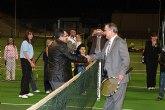 El delegado del Gobierno y el alcalde de Mazarr�n inauguran las nuevas instalaciones en el Polideportivo del Puerto de Mazarr�n