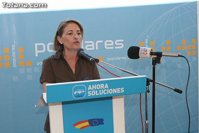 The PP requires the Group Totana Local Socialist PSOE claiming the national early recovery of the Ebro transfer
