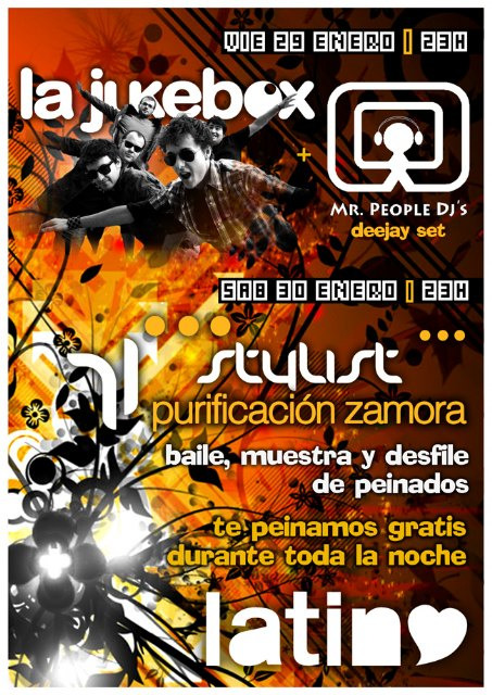 Concert Mr. People's Jukebox + dj shows and fashion hairstyles of Purificación García