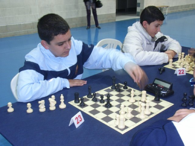 """A total of eight schools in Totana participate in the opening round regional """"Open chess"""" School Sport"""