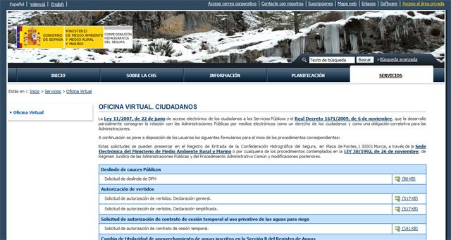 La CHS facilita la tramitación de documentos a través de la Oficina Virtual - 1, Foto 1