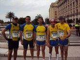 Cinco atletas del Club Atletismo Totana participaron en la 30 edición de la Maratón de Valencia