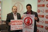UGT y CCOO convocan a la ciudadanía murciana a participar en la gran manifestación del próximo viernes