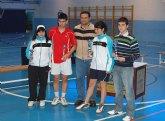 Campeonatos regionales de bádminton en las categorías sub'19 y veterano, en Las Torres de Cotillas